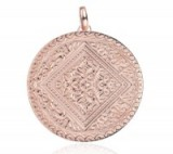 Monica Vinader Marie Pendant 18ct Rose Gold Plated Vermeil on Sterling Silver. Large disc pendants | luxe style jewellery