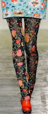 Mary Katrantzou details Fall 2011 LFW. Designer clothing / floral prints / runway fashion
