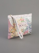 Mary Katrantzou printed zip pouch. Designer handbags / clutch bags / luxury accessories