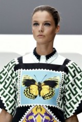 Mary Katrantzou butterfly print Spring 2013. Designer fashion / butterflies / bold prints