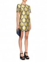 Mary Katrantzou Medow damask-jacquard shift dress ~ luxe style fashion ~ luxury dresses ~ designer clothing