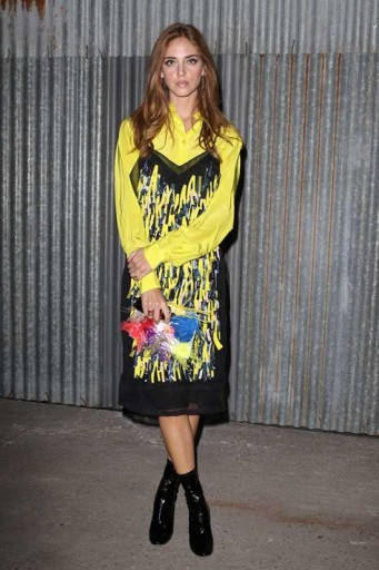 Chiara Ferragni attends the Emilio Pucci Spring/Summer 2016 show, during Milan Fashion Week. MFW / celebrity style / Front Row outfits  #