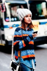 Style icon Miroslava Duma knows how to do knitwear. Street style inspiration | autumn / winter knitwear | jumpers | womens sweaters