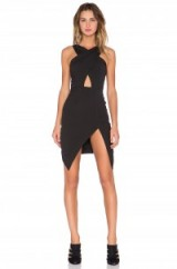 NBD x Revolve Up To Me cut out dress in black. Party dresses ~ asymmetric hemline ~ evening fashion ~ occasion wear