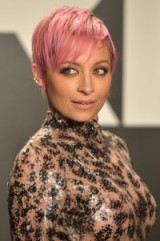 Nichole Richie's pink pixie cut. Celebrity hairstyles ~ short haircuts ~ hair & beauty