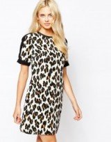 Oasis leopard print shift dress. Autumn/winter fashion | animal prints | day dresses | going out