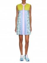 Adidas Originals by Mary Katrantzou ~ People-print storm-flap textured dress ~ designer dresses ~ luxury sportswear ~ sporty style fashion ~ playful prints