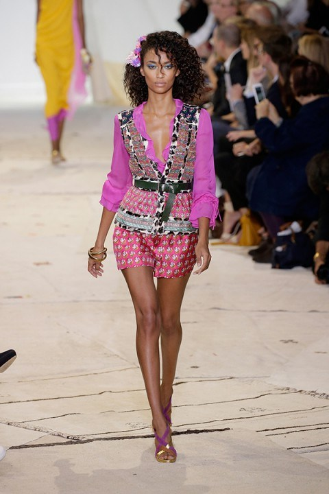 Glamour on the catwalk ~ Diane von Fursenberg NYFW Spring 2016 ~ glamorous runway looks - flipped