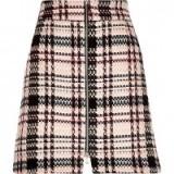 River Island pink check A-line mini skirt. womens skirts ~ fashion