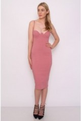 Rare – Pink Cupped Bodycon Dress – as worn by Danielle Armstrong out in Marbella, Spain, 23 September 2015. Celebrity fashion | what celebrities wear | going out dresses