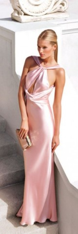 Ralph Lauren pink satin gown from Spring 2012. designer gowns ~ luxury fashion