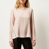River Island pink zip side top. Zipped tops ~ blouses