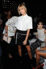 Love Hailey Baldwin in this monochrome look, attending the Public School Spring 2016 fashion show at NYFW. Celebrity fashion | star style | Front Row celebrities | outfits