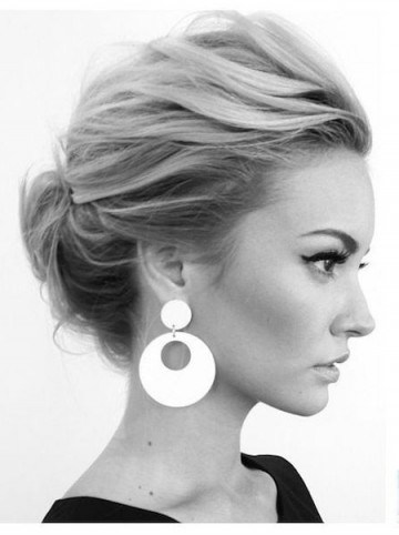 Chic updo   hairstyles - flipped
