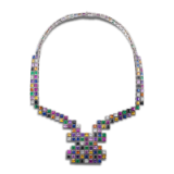 Random necklace by Solange Azagury-Partridge includes diamonds, emeralds, rubies, amethysts & pink sapphires…this is a real statement piece and I would love it! #makeastatement #designernecklaces #boldjewellery