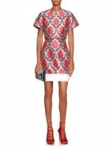 MARY KATRANTZOU Renzie damask-jacquard PVC-frill skirt. runway fashion ~ womens designer clothing ~ richly coloured fabrics ~ luxe style prints ~ luxury skirts ~ co-ords ~ sets