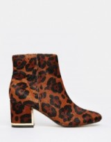 River Island 60s leopard print block heel boots. Animal prints | womens footwear | autumn winter fashion