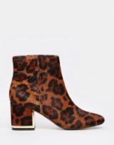 River Island 60s leopard print block heel boots. Animal prints | womens footwear | autumn winter fashion
