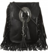 For the perfect boho chic look, want this Saint Laurent Anita tasselled flat bag in black…Kourtney Kardashian owns one in tan suede! Designer bags / fringed handbags / celeb style accessories