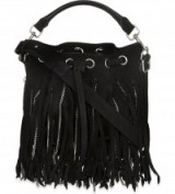 Stunning YSL small tassel bag from selfridges.com love the silver chains through the tassels. Designer bags / boho chic / mini handbags