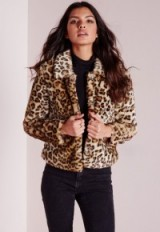 Missguided Serena cropped faux fur coat in leopard print. Animal prints | glamorous jackets | autumn-winter coats | warm fashion