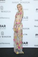Pixie Lott in a sheer floral long sleeved Blumarine gown attends the amfAR Milano Gala on 26 Sept 2015, Milan, Italy. MFW events / luxury gowns / long designer dresses / celebrity style  #
