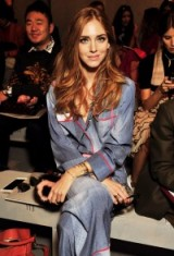 Chiara Ferragni Front Row at MFW S/S 2016. Celebrity fashion / Milan Fashion Week  #