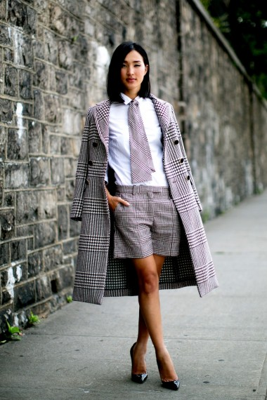 Houndstooth check coat – street style coats ...