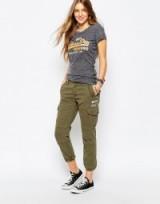 Superdry boyfriend cargo pant in green. Womens casual trousers | weekend wear | khaki pants