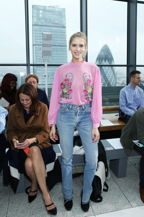 Russian supermodel Elena Perminova Front Row at Christopher Kane S/S 2016 LFW. Celebrity style / celebrities at London Fashion Week  #