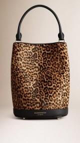 Burberry leopard print bucket bag ~ autumn bags ~ designer handbags