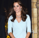 Kate Middleton wearing Monica Vinader Riva diamond drop earrings & Riva diamond cluster bib from monicavinader.com. Luxe jewellery / luxury style accessories / necklaces