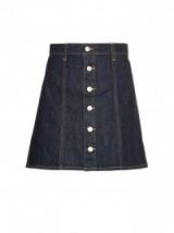 ALEXA CHUNG FOR AG The Kety denim A-line mini skirt. Dark blue denim skirts   70s style   designer fashion