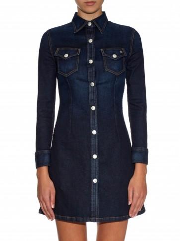 ALEXA CHUNG FOR AG The Pixie denim dress. Designer clothing | shirt style dresses | womens casual fashion | dark blue denim