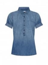 CURRENT/ELLIOTT The Popover ombré denim shirt. Womens tops   mid-blue denim blouses   casual designer shirts
