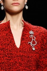 Balenciaga brooch Fall 2015 – designer brooches – ornate jewellery