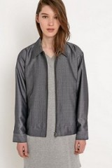 Title A – grey bomber jacket. Casual fashion | weekend wear | womens jackets