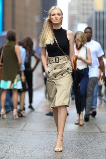 Laid-back glamour ~ Kate Davidson Hudson New York street style NYFW Spring 2016 ~ chic outfits - flipped