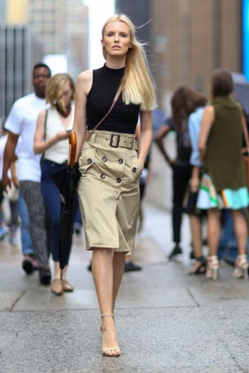Laid-back glamour ~ Kate Davidson Hudson New York street style NYFW Spring 2016 ~ chic outfits