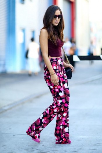 A touch of retro glamour ~ New York street style NYFW Spring 2016 ~ casual chic - flipped