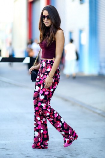 A touch of retro glamour ~ New York street style NYFW Spring 2016 ~ casual chic