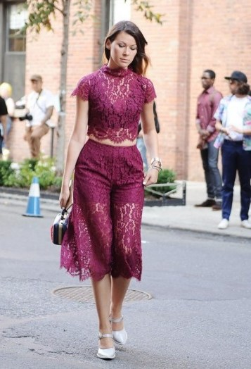 Lace luxe ~ New York street style NYFW Spring/Summer 2016 ~ glamour in the city - flipped
