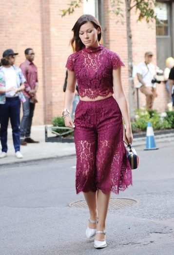 Lace luxe ~ New York street style NYFW Spring/Summer 2016 ~ glamour in the city