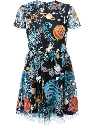 Valentino Cosmos dress – as worn by Kate Mara at the New York premiere of The Martian. Celebrity fashion | star style | what celebrities | designer fit & flare dresses  #
