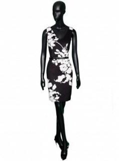 Felipe Varela black & white floral dress – as worn by Queen Letizia of Spain while visiting the White House, 15 September 2015. Royal fashion | designer dresses | celebrity style - flipped