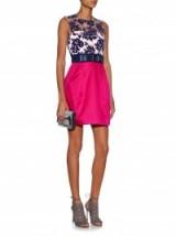 Mary Katrantzou Victoria Philippe tulle and satin dress in fuchsia & navy ~ occasion dresses ~ luxury fashion ~ womens designer clothing ~ textured fabrics