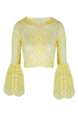 Oxygen Boutique – ALEXIS Vito Aurora Lace Crop Top. Cropped fashion | bell sleeved tops  #