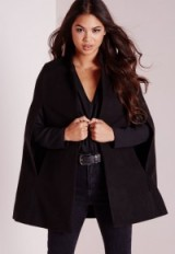 Missguided wool blazer cape in black. Womens coats | autumn-winter outerwear | on-trend capes