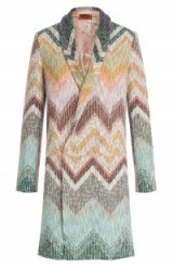 Missoni wool coat – as worn by model Suki Waterhouse shopping in Manhattan, New York, 15 September 2015. Celebrity fashion | street style | designer coats | what celebrities wear