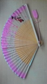 1980's hand painted fan from Japan